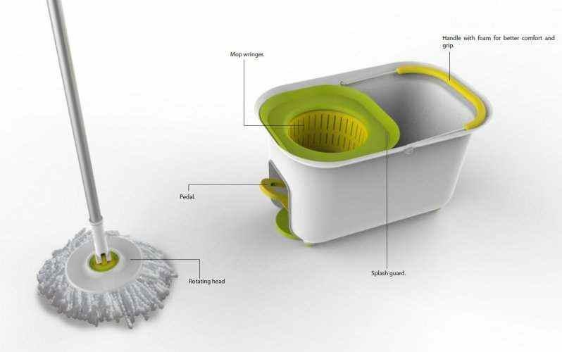round swivel mop with bucket